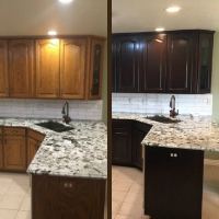 Holiday Cabinet Refinishing
