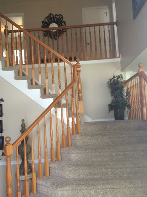 wood banister renewal utah