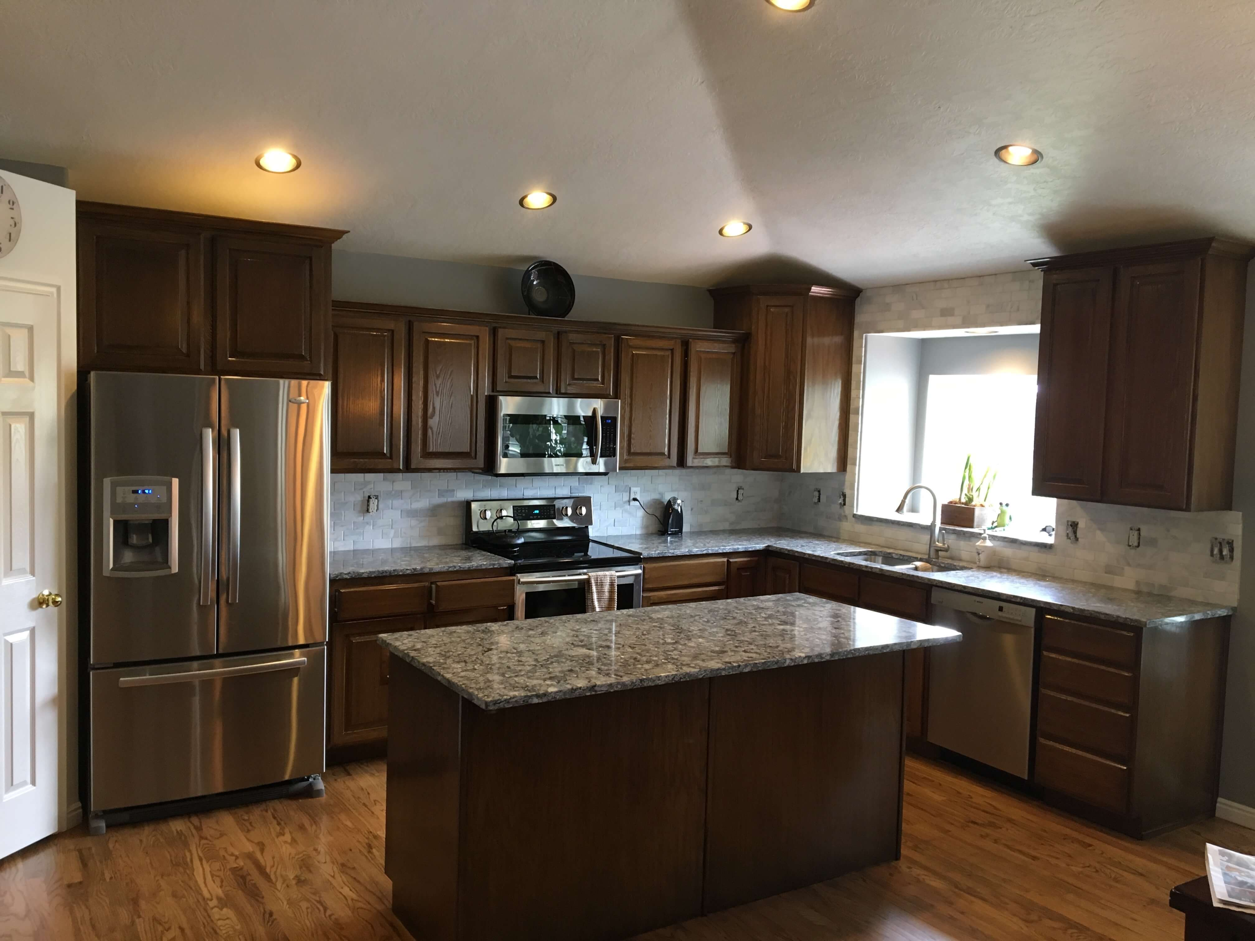 salt lake city cabinet refinishing before and after
